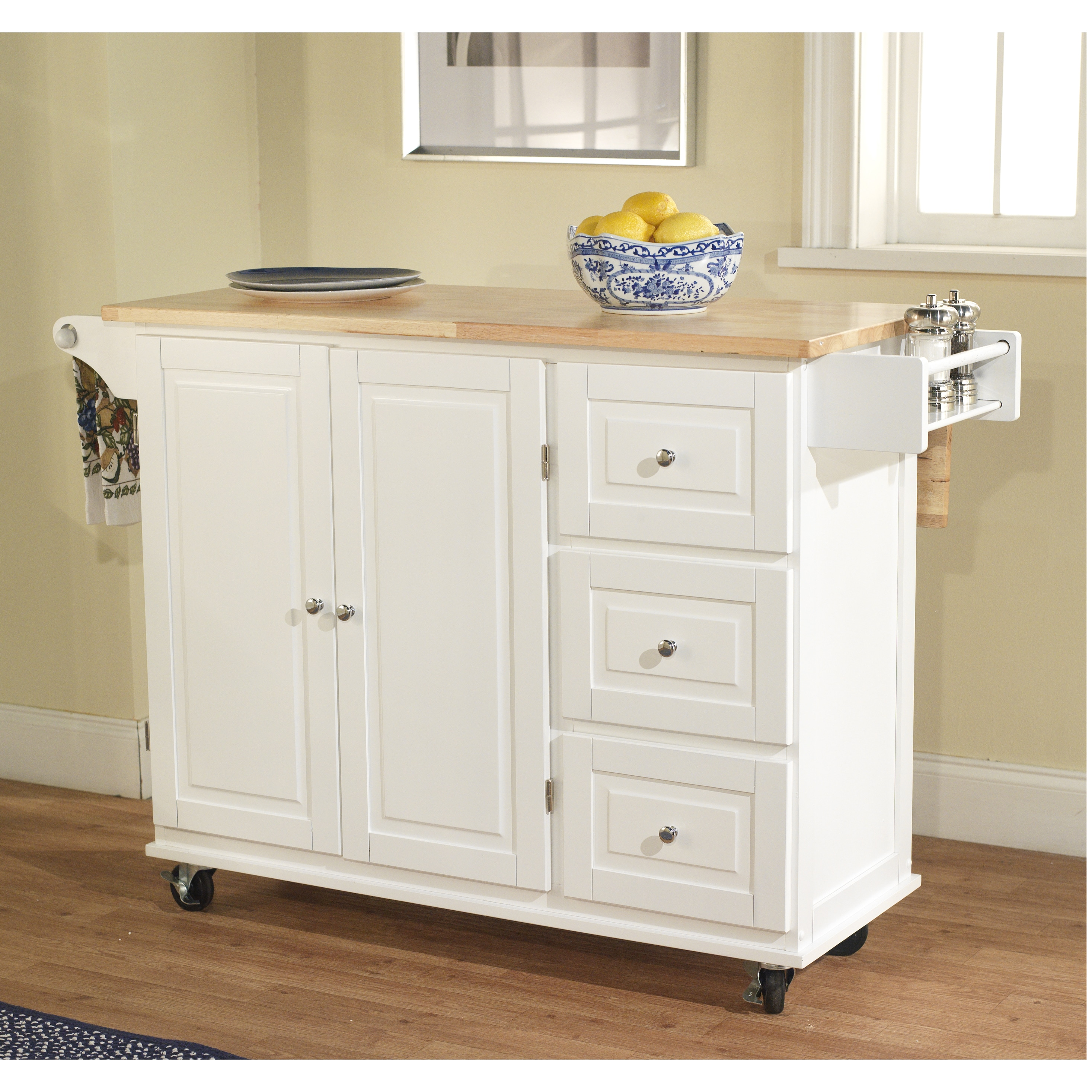 kitchen island with drop leaf clearance remodeling buffalo ny simple living aspen 3 drawer spice rack