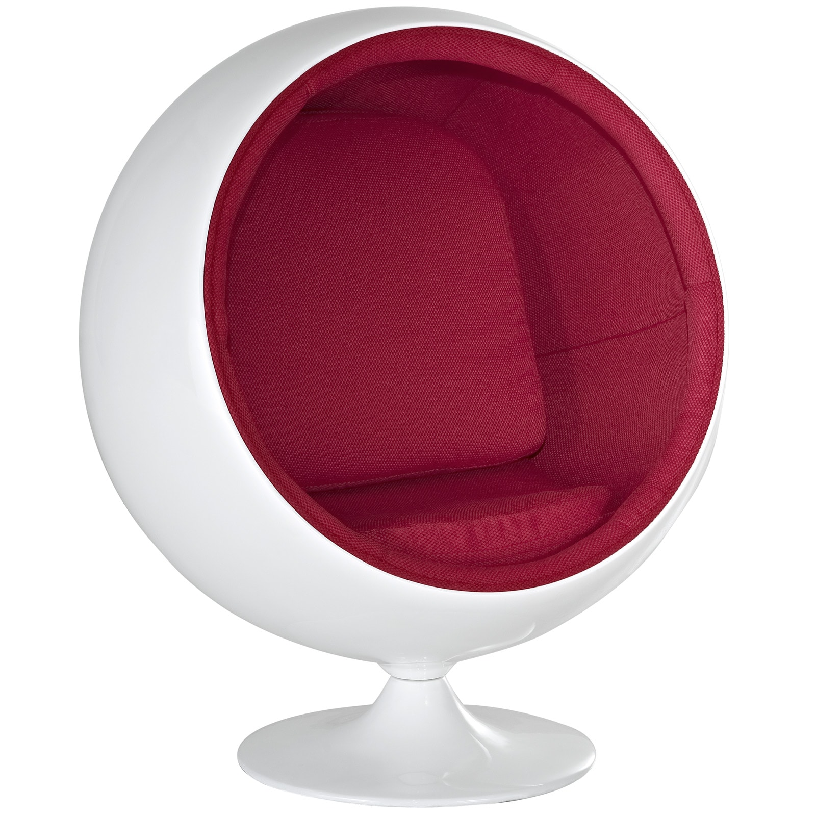 Kids Ball Chair Eero Aarnio Style Kids Ball Chair In Red