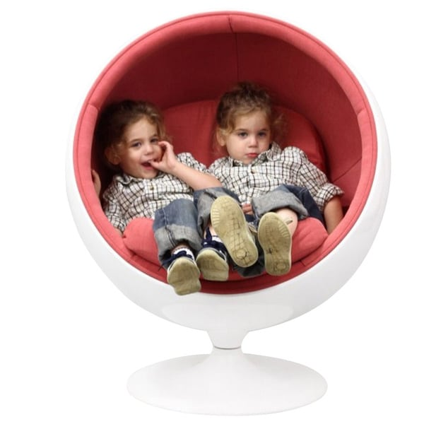 ball chair for kids gaming chairs australia shop eero aarnio style in pink free shipping today