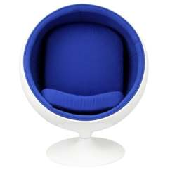 Ball Chair For Kids Hampton Bay Patio Chairs Shop Eero Aarnio Style In Blue Free Shipping Today