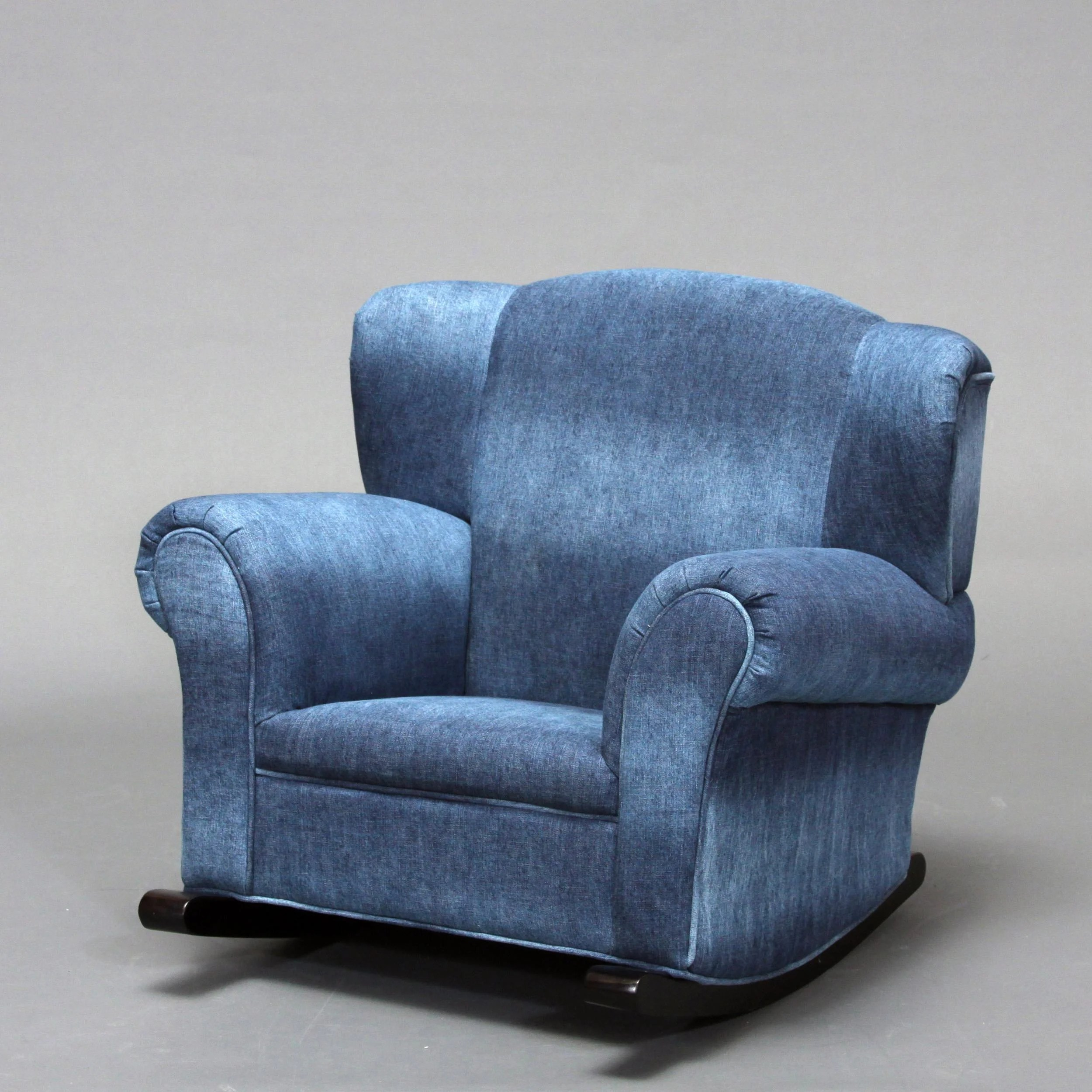 Denim Chairs Child 39s Blue Denim Rocking Chair Free Shipping Today