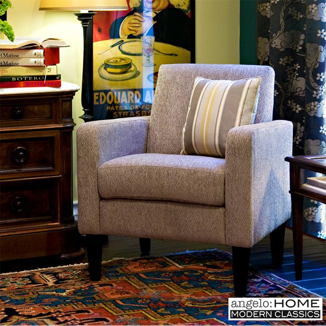 angelo:HOME Wounded Warrior Project Hero Gray Accent Arm Chair