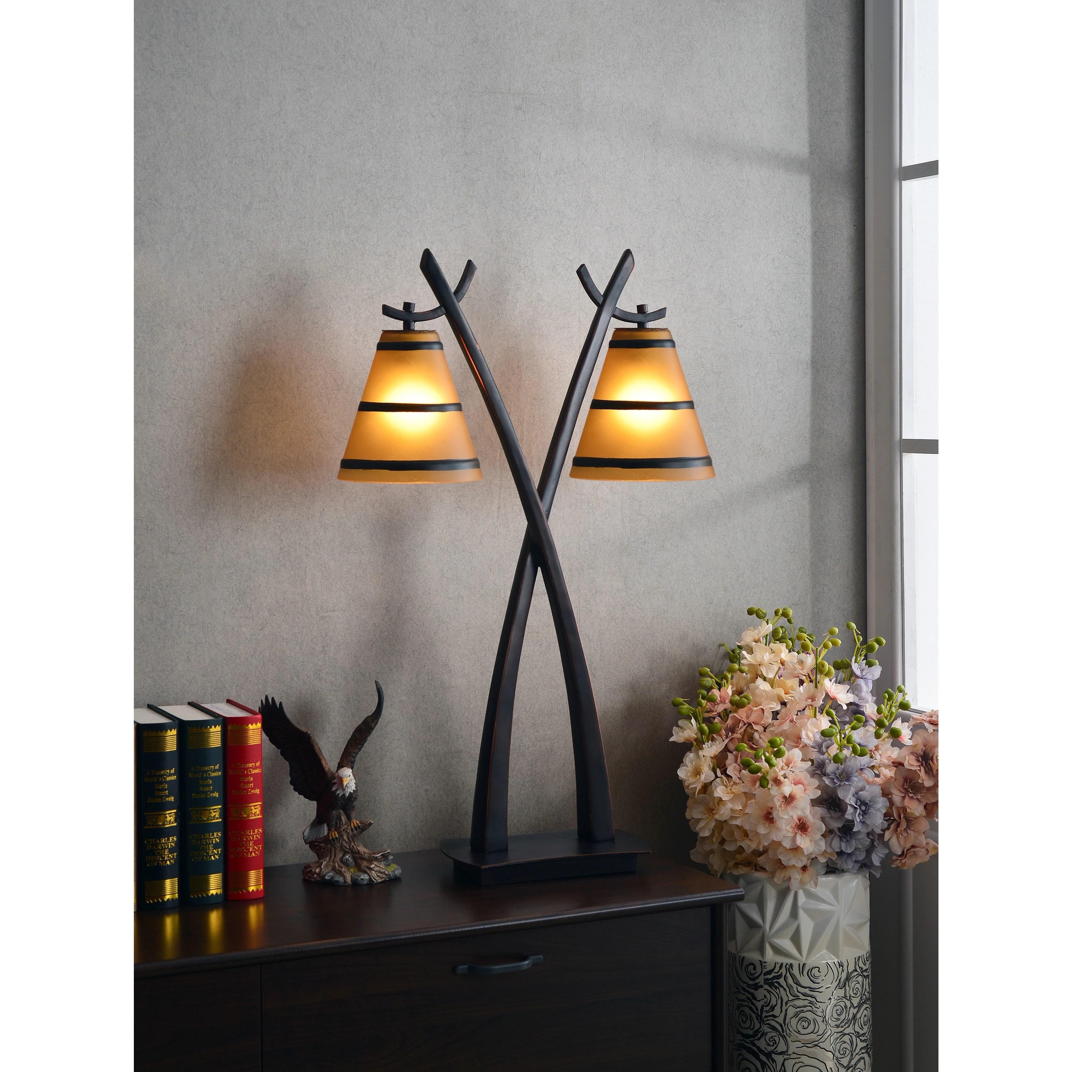 Carbon Loft Edmund Oil Rubbed Bronze 2-light Table Lamp