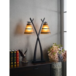 Carbon Loft Edmund Oil Rubbed Bronze 2-light Table Lamp