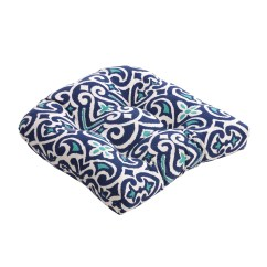 Blue Chair Pads Swivel Chairs For Sale Pillow Perfect Kitchen And Dining Overstock Shopping