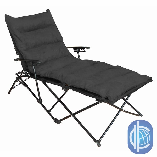 folding chaise lounge chair outdoor swing replacement covers shop international caravan indoor with microsuede seat cover