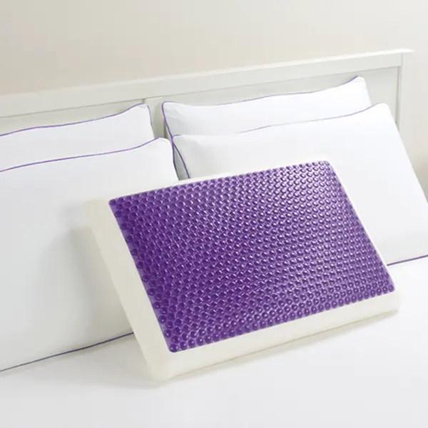 Shop Comfort Memories Gel Purple Bubble Bed Pillow  On