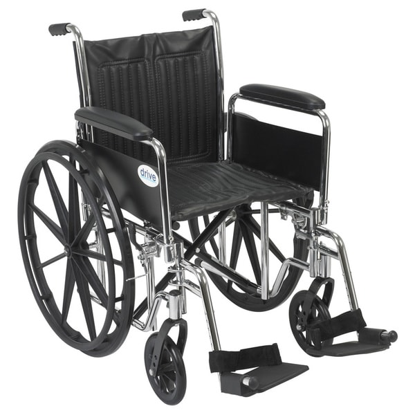 drive wheel chair swivel glider outdoor shop medical chrome sport 20 inch wheelchair free shipping today overstock com 7262972