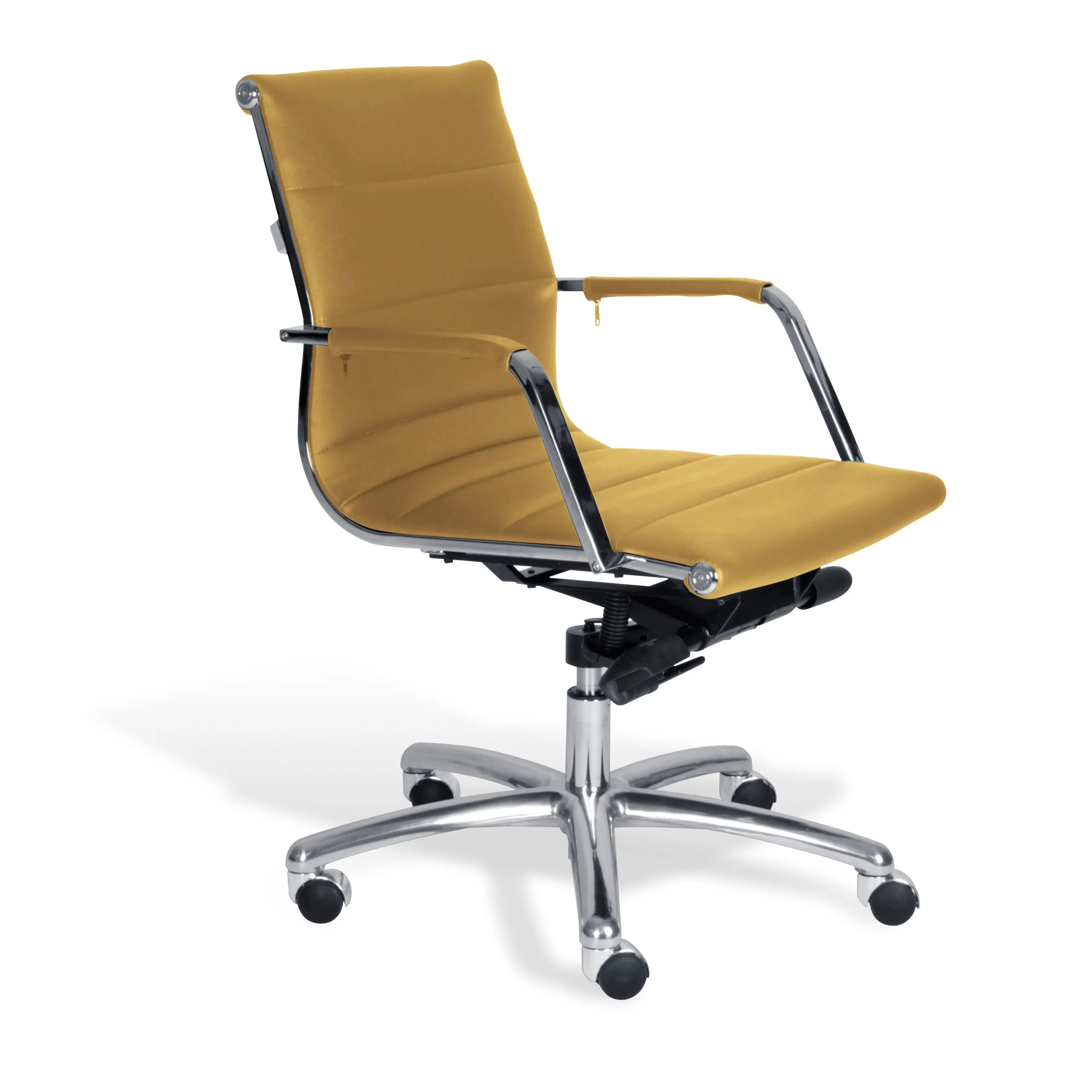 office chair overstock mid century modern chairs for living room jesper mustard commercial grade