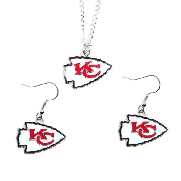 Shop Kansas City Chiefs Necklace and Dangle Earings Charm