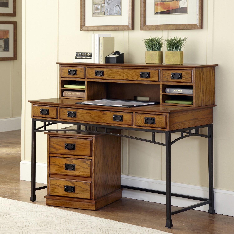 Modern Craftsman Executive Desk Hutch Mobile File by