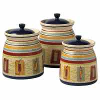 Pfaltzgraff Sedona 3-piece Sealed Canister Set - 13304069 ...