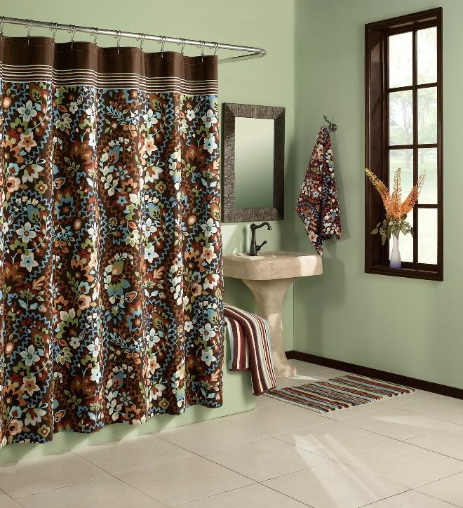 Lola Paisley Chocolate Cotton Shower Curtain Free Shipping On