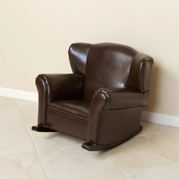 Kids Leather Rocking Chair