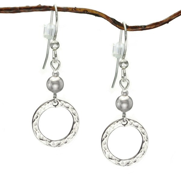Shop Handmade Jewelry by Dawn Sterling Bead With Hammered