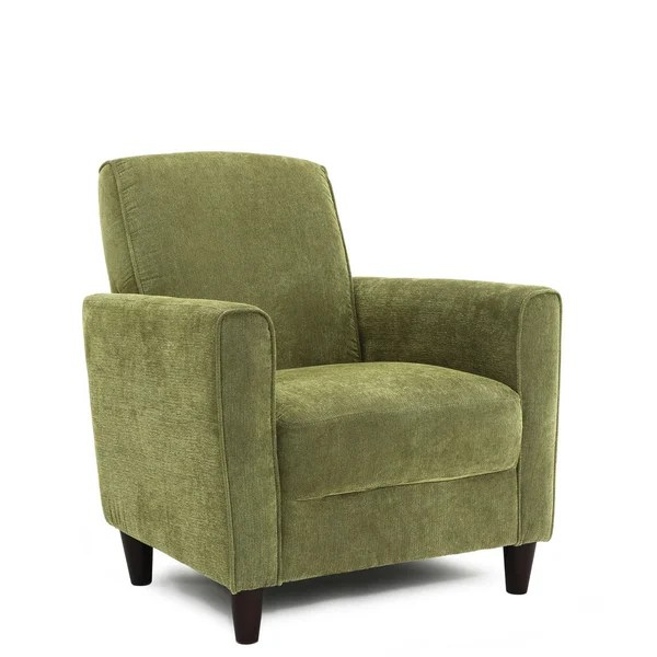 Comfortable Sturdy Accent Chair Solids Green Blue Brown