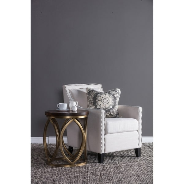 overstock arm chair contemporary corner shop bella upholstered by kosas home free shipping today