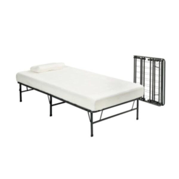 Pragma Fold Bed Frame Twin Xl Size With 6 Inch Memory Foam Mattress