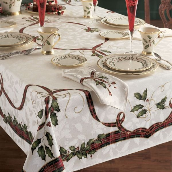 lenox christmas chair covers comfortable office chairs for gaming shop holiday nouveau table cloth by free shipping on orders over 45 overstock com 7341584