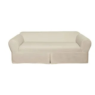 luxe 2 seat sofa slipcover airbag bed buy couch slipcovers online at overstock com our best furniture covers deals