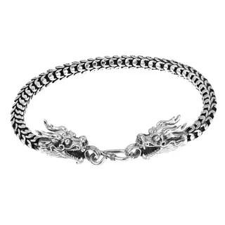 Sunstone Sterling Silver Lionhead Bali Foxtail Chain