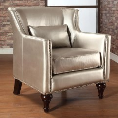 Overstock Arm Chair Wedding Covers Hire Hampshire Trenton Gold Metallic Silver 13510865