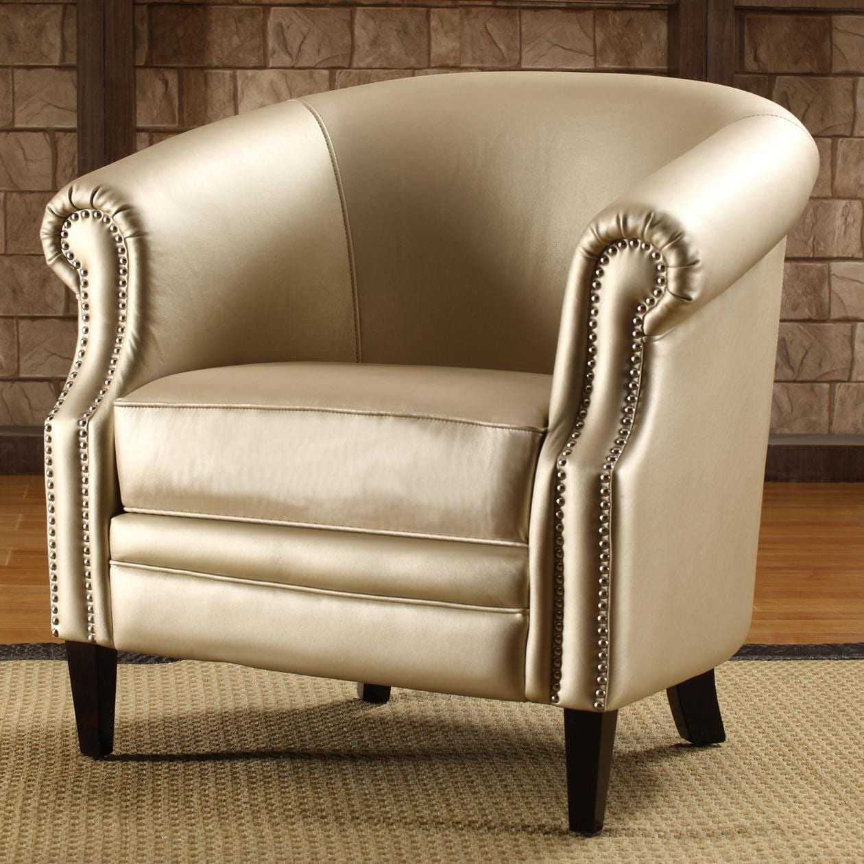 Armed Accent Chairs Trenton Gold Metallic Accent Arm Chair Free Shipping