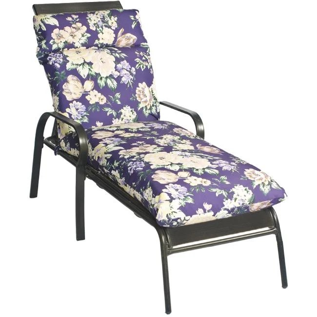 purple chaise lounge chair china mall covers shop pia floral outdoor cushion free shipping today overstock com 5863429