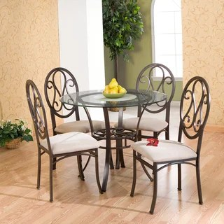 suede dining table chairs big wicker chair buy kitchen room online at overstock com our copper grove celandine brown beige set of 4