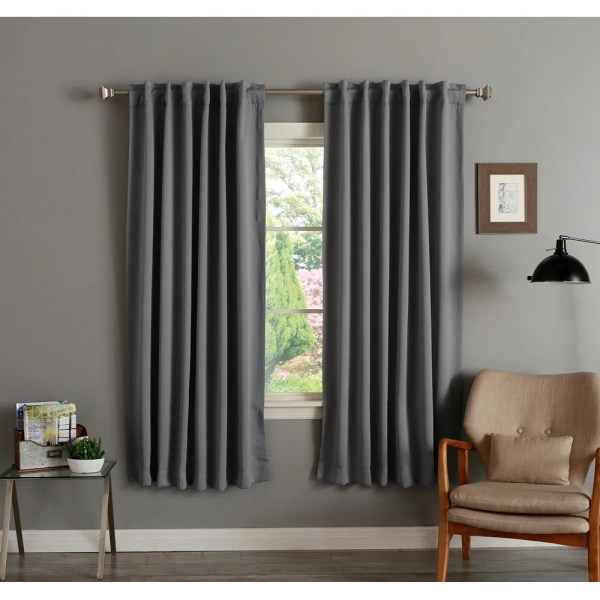 Aurora Home Insulated 72- Thermal Blackout Curtain