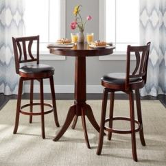 High Top Table Chair Set Where To Buy Covers In Dubai Bar Pub Sets Online At Overstock Com Our Best Dining Simple Living Mahogany Finish 3 Piece Anderson