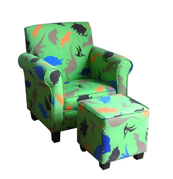 Shop Kids Green Club Chair and Ottoman Set  Free