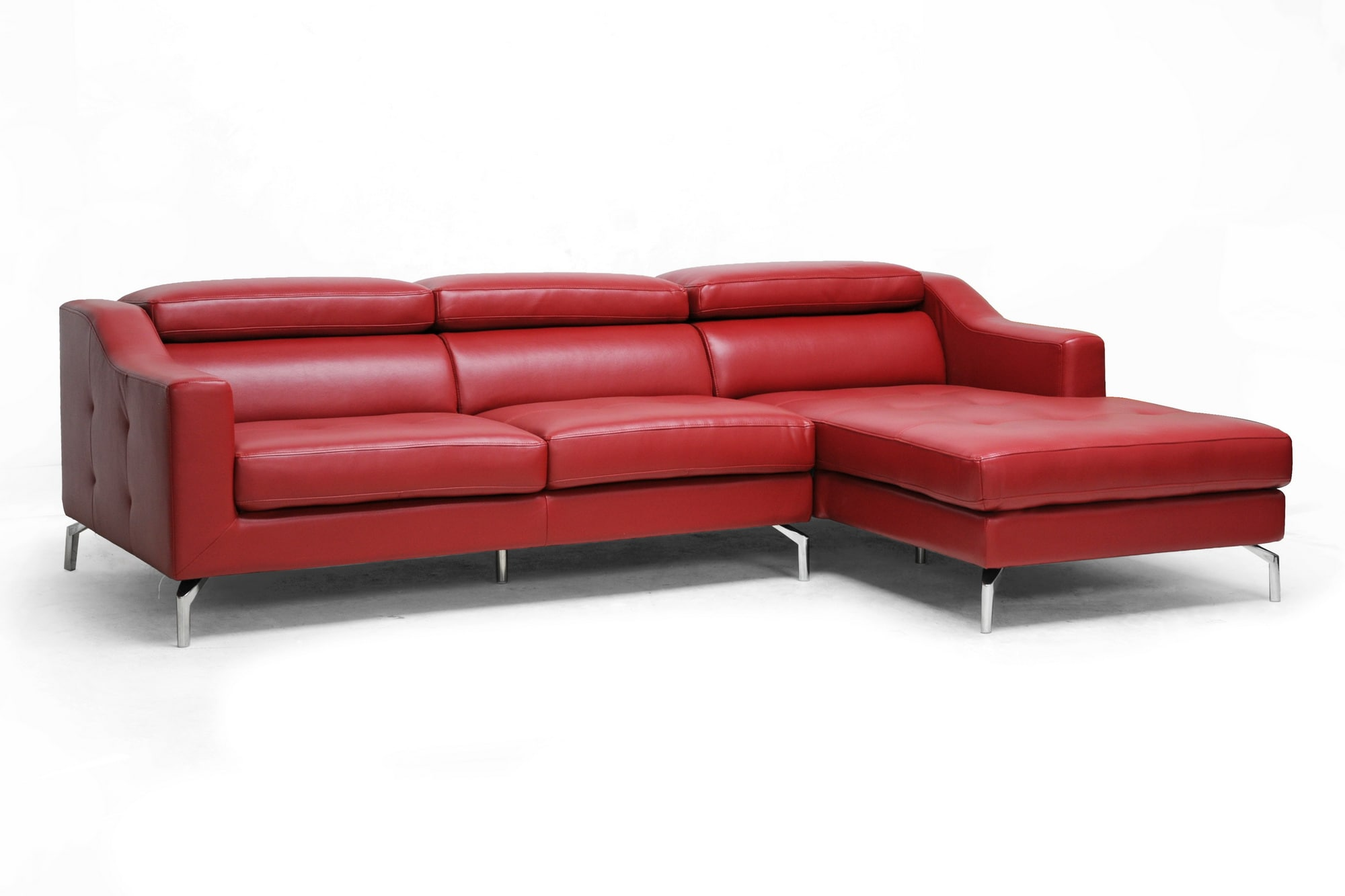 red modern sectional sofa leather quality guide pin tosh furniture with