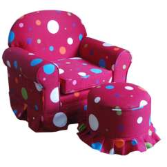 Hot Pink Chair Revolving Hydraulic Price Shop Kids Club And Ottoman Set Free Shipping Today