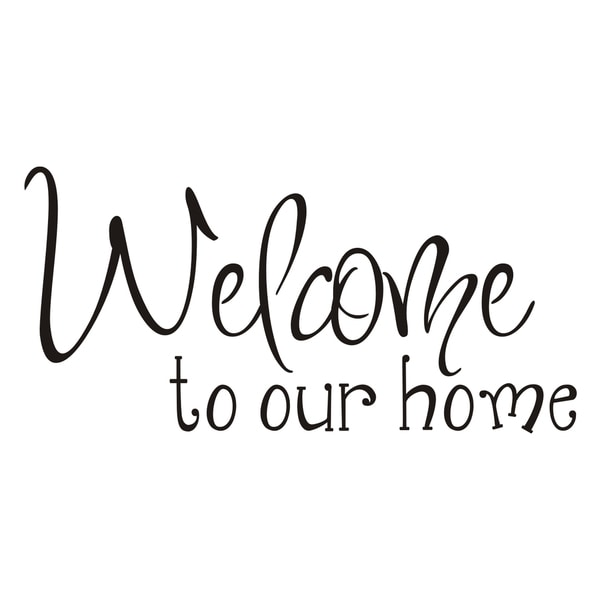 Shop Vinyl Attraction 'Welcome to Our Home' Vinyl Wall Art