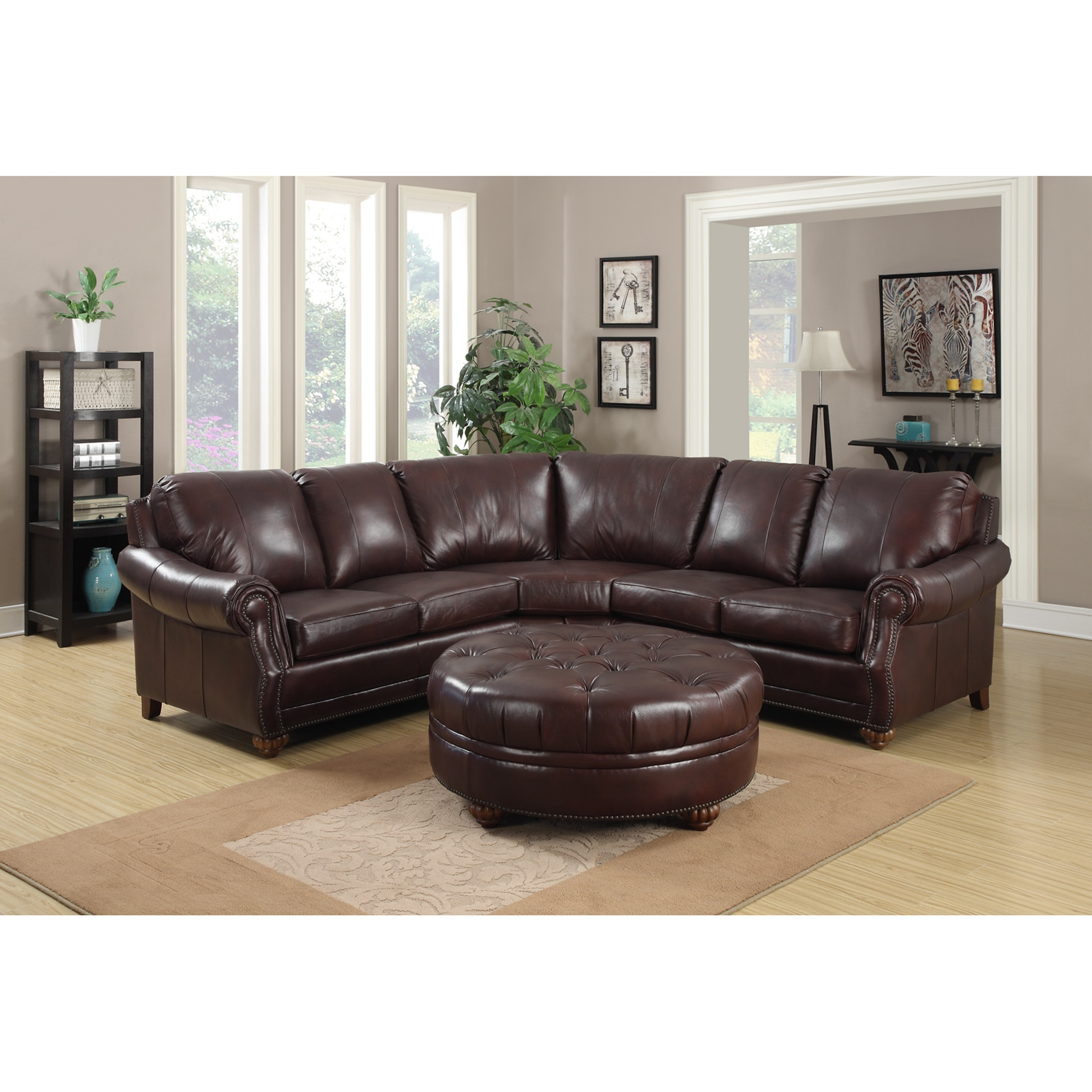 baxton studio dobson leather modern sectional sofa reviews on clack beds furniture for sale gt adfind org