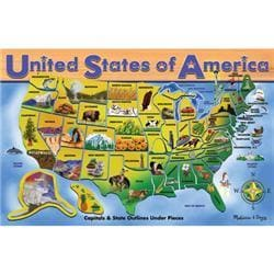 Melissa amp Doug USA Map 51piece Floor Puzzle 2 x 3
