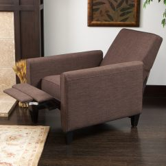 Darvis Leather Recliner Club Chair Brown Christopher Knight Home Update Dining Room Chairs Fabric Free Shipping Today