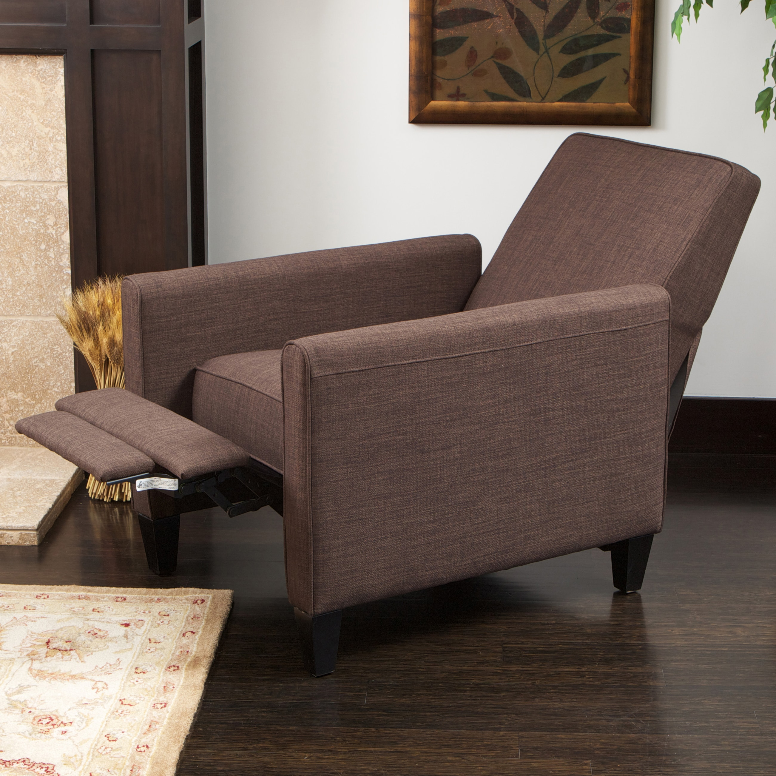 reclining club chair theater chairs for sale brown fabric recliner free shipping today