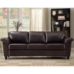 Faux Leather Sofa Deals Retro Sofas For Sale Insten Lucia Dark Brown 13720809