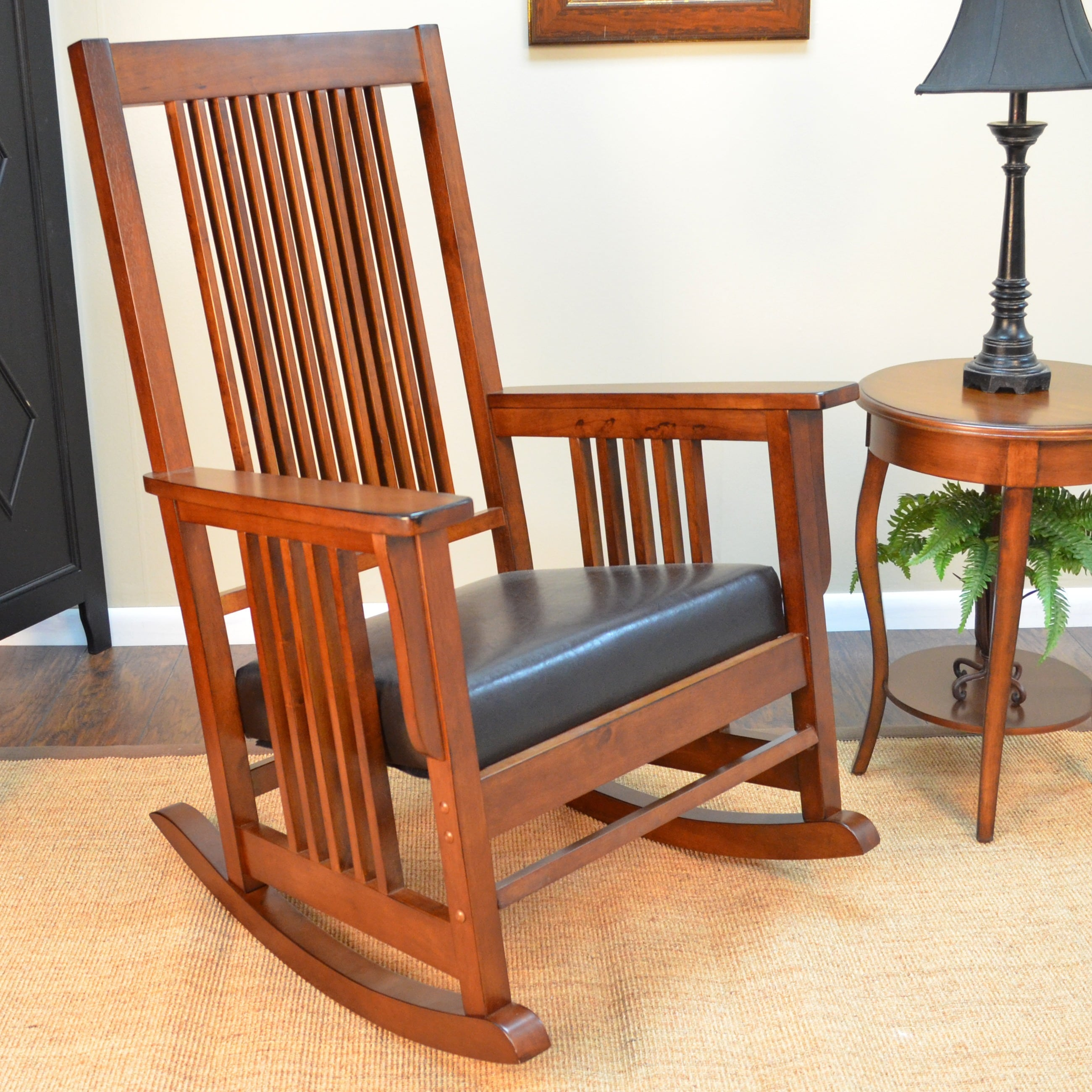 Overstock Rocking Chairs Montego Deluxe Mission Rocker Chair Overstock Shopping