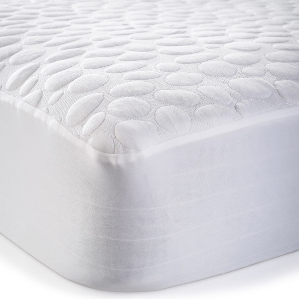 Christopher Knight Home Pebbletex Tencel Waterproof Mattress Protector White