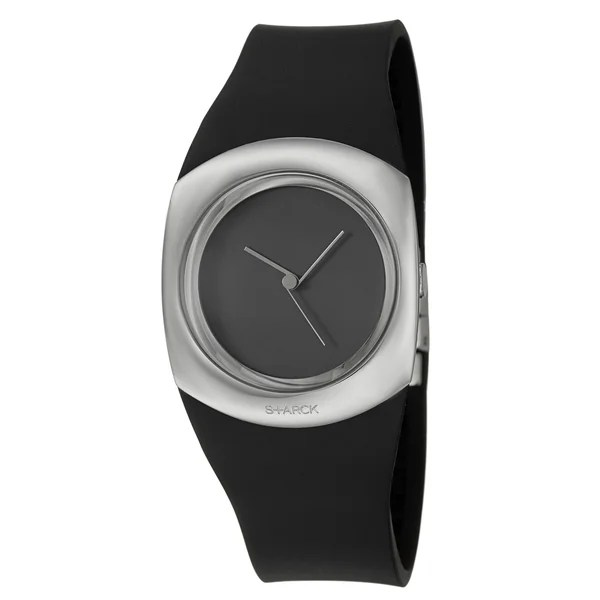 Shop Philippe Starck Women's Black Stainless-Steel 'Minimalist' Watch - Free Shipping On Orders Over $45 - Overstock - 7519480