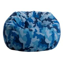 Big Joe Bean Bag Chair Reviews Metal Bistro Chairs Target Beansack Blue Camo - Free Shipping On Orders Over $45 Overstock.com 14978532