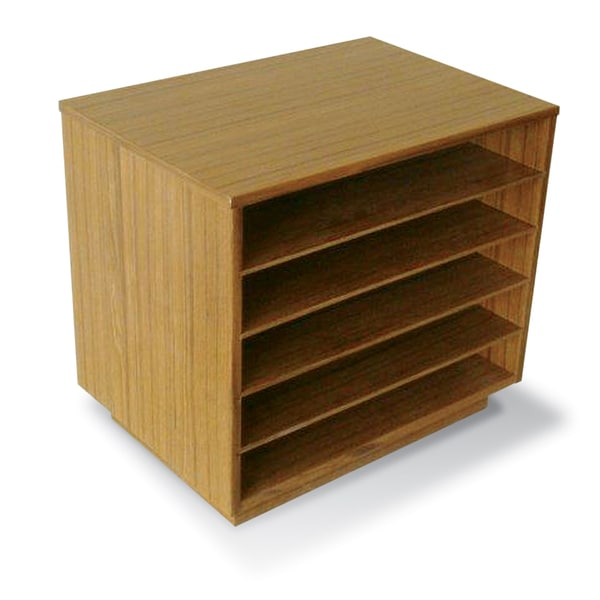 Shop Paper Organizer In Teak Wood Free Shipping Today Overstock 7552171