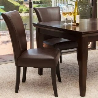 leather dining room chairs garden chair accessories buy brown kitchen online at overstock stanford set of 2 by christopher knight home
