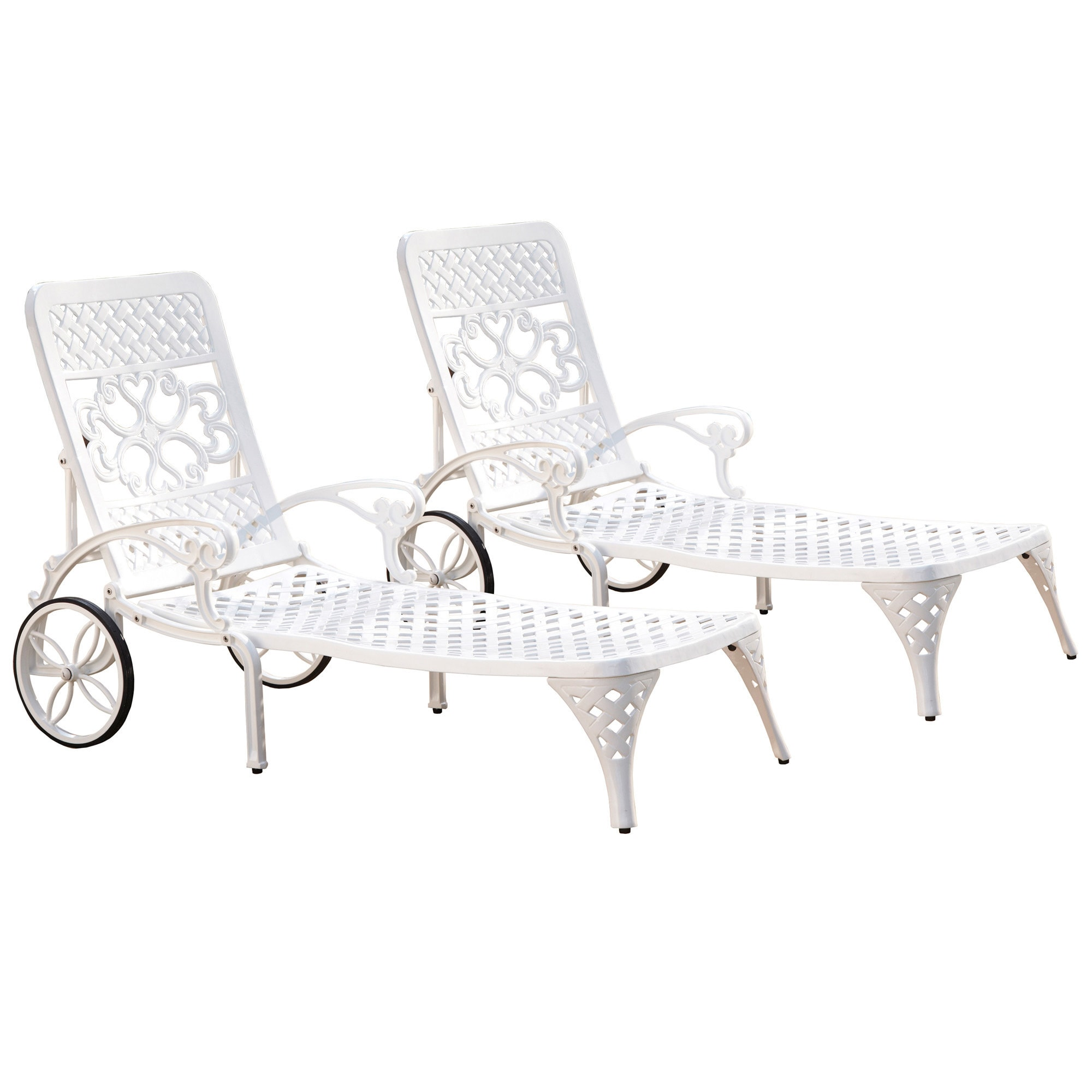Gracewood Hollow Rasmussen Chaise Lounge Chairs Set Of 2
