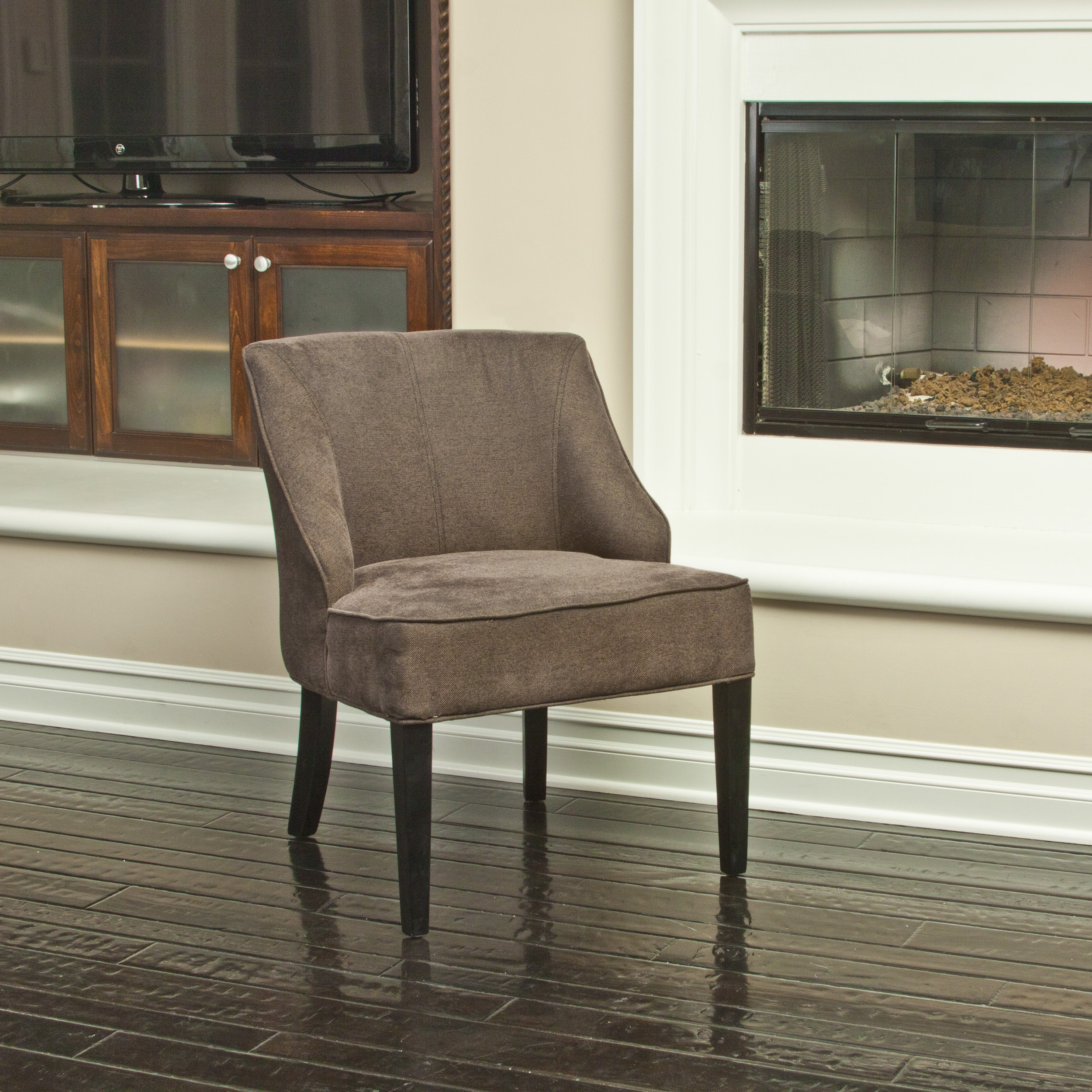 gray accent chairs set of 2 pier one wicker louise dark grey linen 13781209