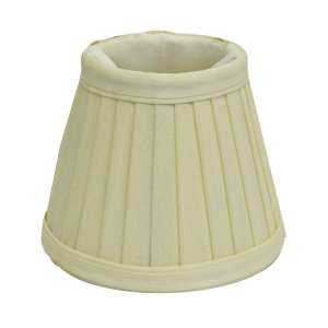 6-pack Pleated Beige Clip Chandelier Shades