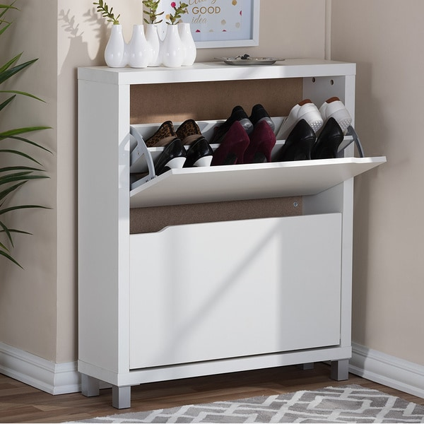Baxton-Studio-Marsha-Modern-Double-Shoe-Cabinet-96d69f5d-36d0-4d4e-9ca3-5682cb9db3ee_600 How to Keep Organized this Fall with Storage from Overstock